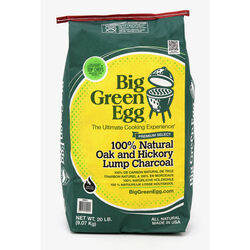 Big Green Egg  All Natural Hickory and Oak  Lump Charcoal  20 lb.