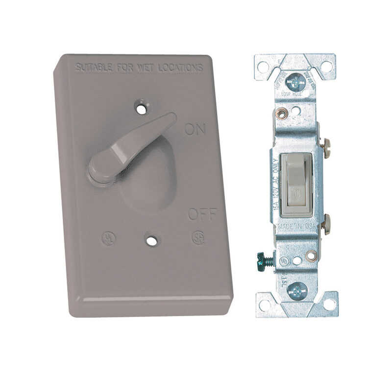 Sigma Electric  Rectangle  Metal  1 gang Toggle Switch and Cover  For Wet Locations