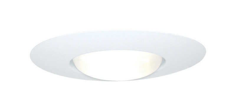 Halo  Matte  White  Metal  Open Trim  6 in. W