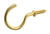 Hillman  Brass-Plated  Gold  Metal  Cup/Picture Hook  1 lb. 8 pk