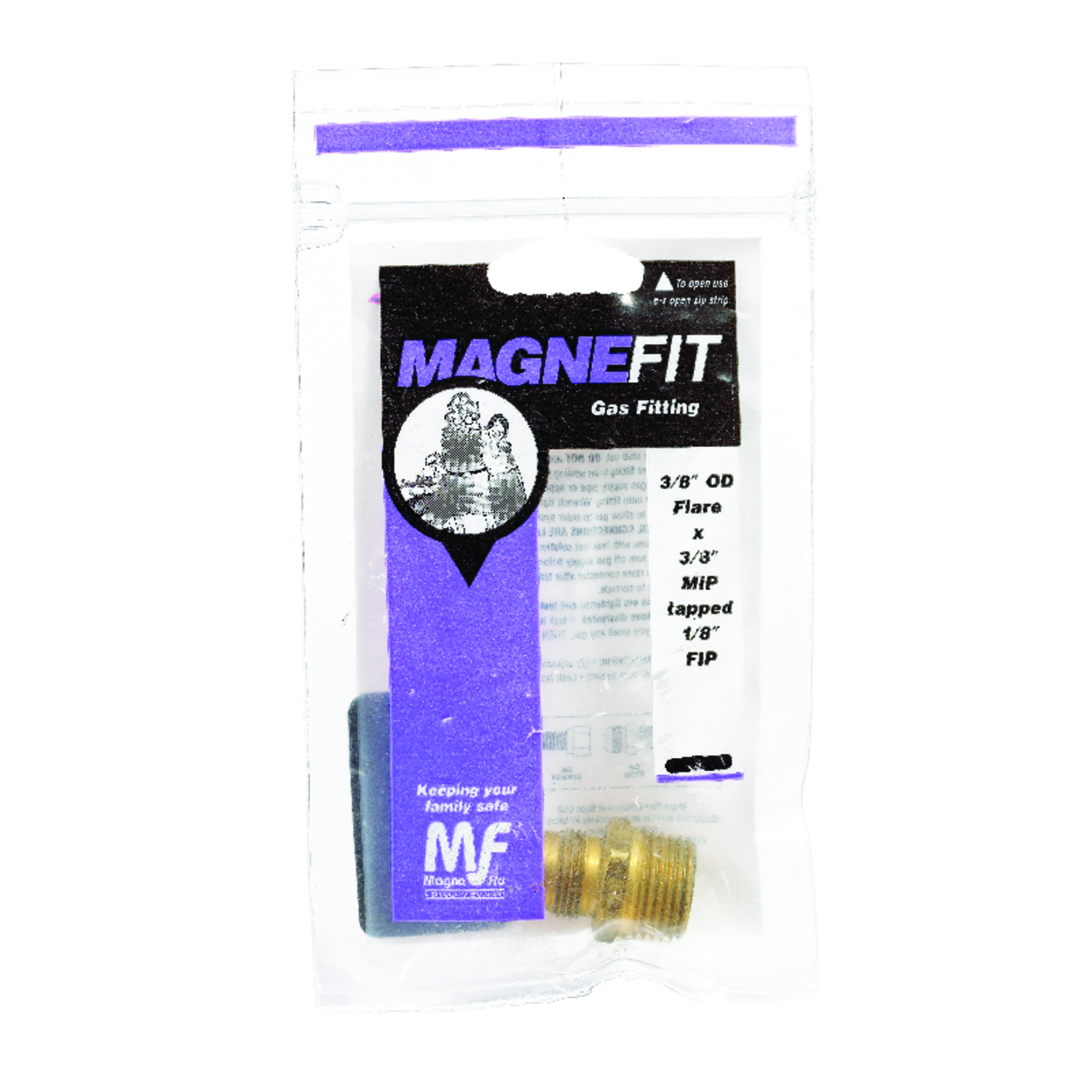 Magne Flo  3/8 in. Flare   x 3/8 in. Dia. MIP  Brass  Gas Adapter  Schedule 40, 80, 120