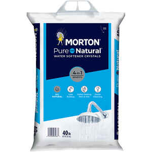Morton Salt  Pure And Natural  Water Softener Salt  Crystal  40 lb.
