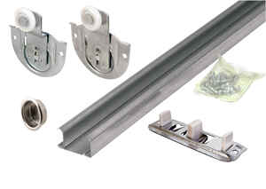 Prime-Line  Galvanized  Silver  Steel  By-Pass Guide  1 pk