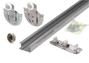 Prime-Line  Galvanized  Silver  Steel  Top  By-Pass Guide  1 pk