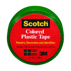 3M  Scotch  Green  125 in. L x 3/4 in. W Plastic Tape