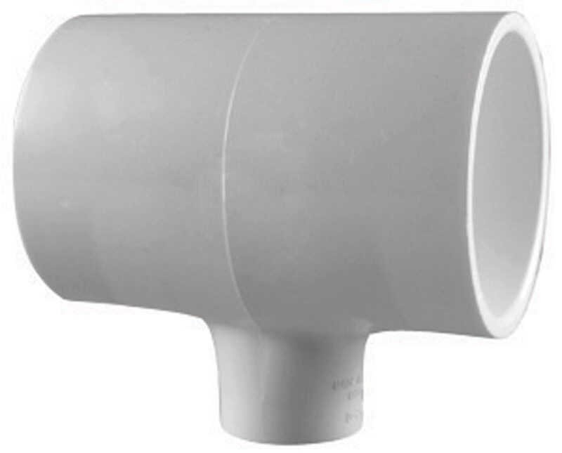 Charlotte Pipe  Schedule 40  3/4 in. Slip   x 3/4 in. Dia. Slip  PVC  Reducing Tee