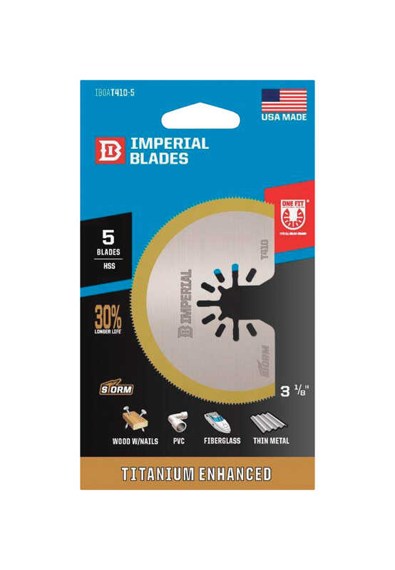 Imperial Blades  OneFit  3-1/8 in. Dia. Titanium-Coated Bi-Metal  Segmented  Oscillating Saw Blade