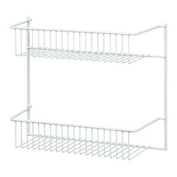 ClosetMaid  10.5 in. H x 12.5 in. W x 5.0 in. L White  Wire Wall Rack