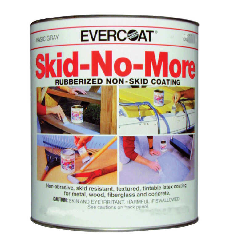 Evercoat  Skid-No-More  Gray  Rubberized Non-Skid Coating  1 qt.