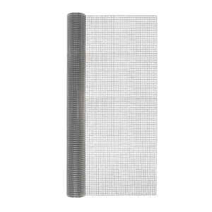 Garden Zone  48 in. W x 25 ft. L Silver Gray  Steel  Hardware Cloth  1/2 in.