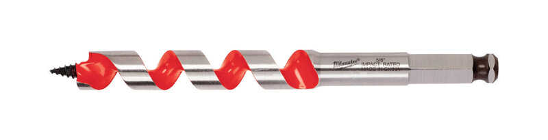 Milwaukee  5/8 in. Dia. x 6 in. L Ship Auger Bit  Hardened Steel  1 pc.