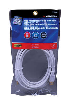 Monster  Just Hook It Up  15 ft. L USB Cable