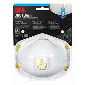 3M  N95  Construction  Respirator  Valved White  1 pc.
