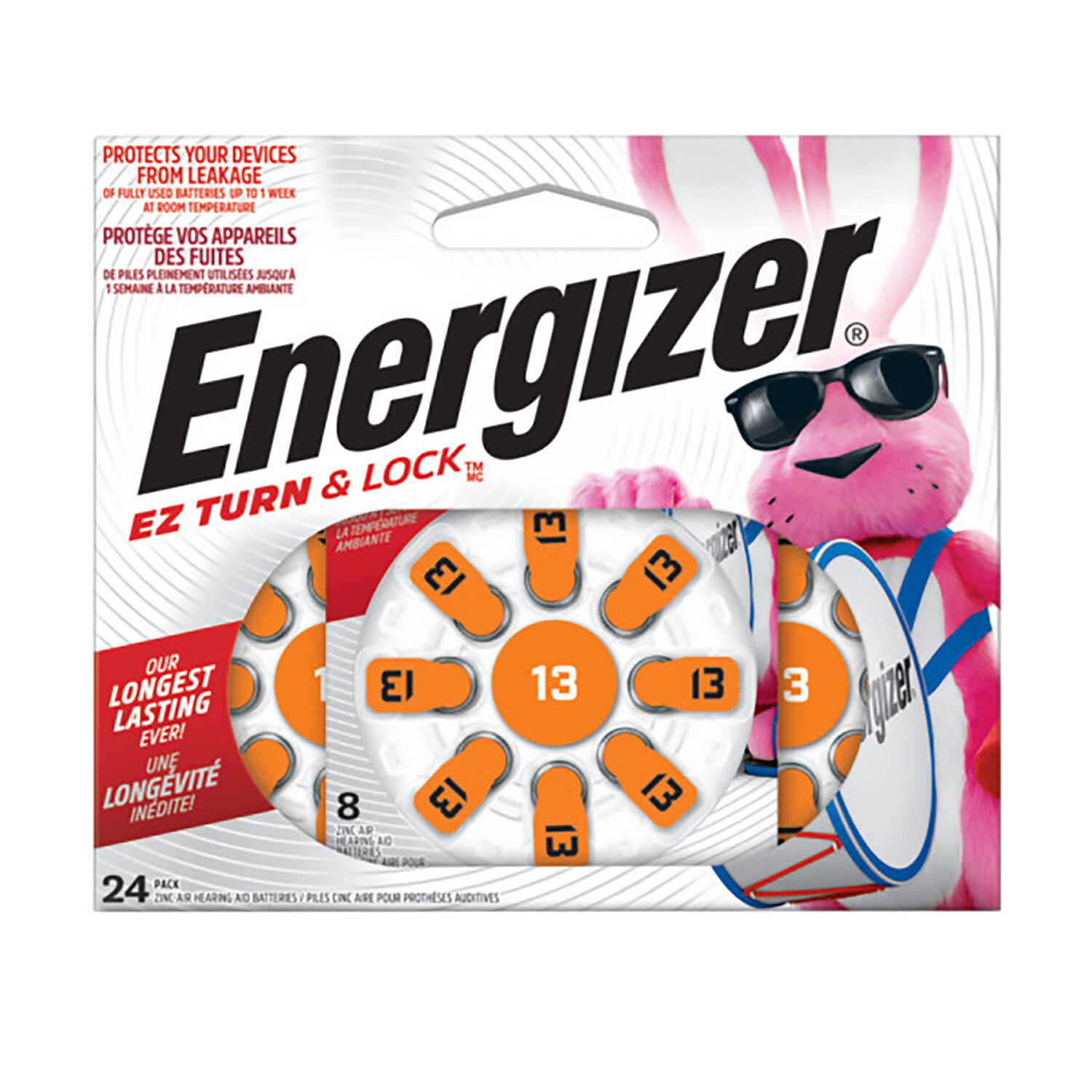 Energizer  Zinc Air  13  1.4 volt Hearing Aid Battery  24 pk