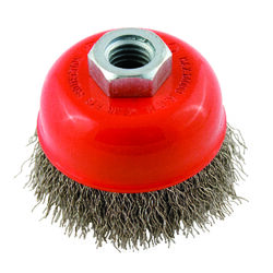 Forney  2.75 in. Dia. x 5/8 in.  Crimped  Steel  Cup Brush  14000 rpm 1 pc.