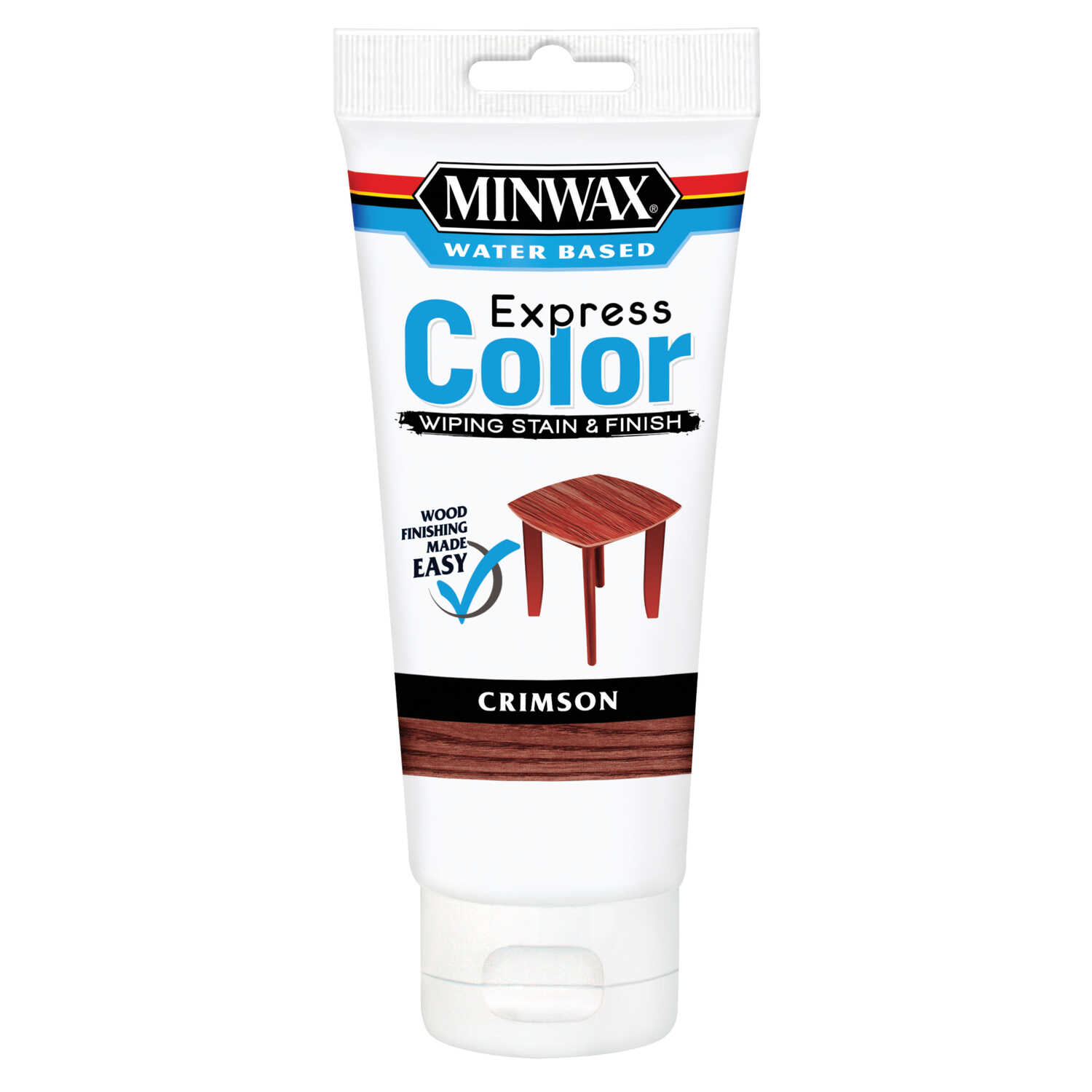 Minwax  Express Color  Semi-Transparent  Crimson  Water-Based  Acrylic  Wiping Stain and Finish  6 o