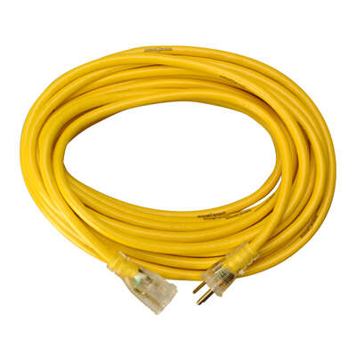 Yellow Jacket Outdoor 50 ft. L Yellow Extension Cord 12/3 SJTW