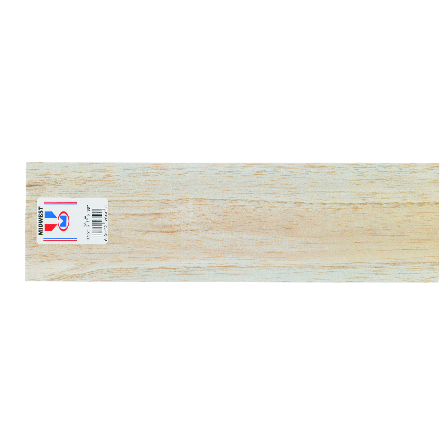 Midwest Products  4 in. W x 3 ft. L x 3/32 in.  Sheet  Balsawood