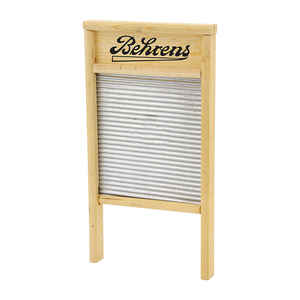 Behrens  12.5 in. W x 24.5 in. L Galvanized Steel Scrub Surface Washboard