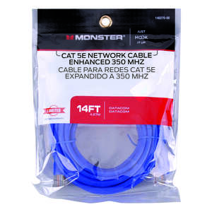 Monster Just Hook It Up  14 ft. L Category 5E  Networking Cable