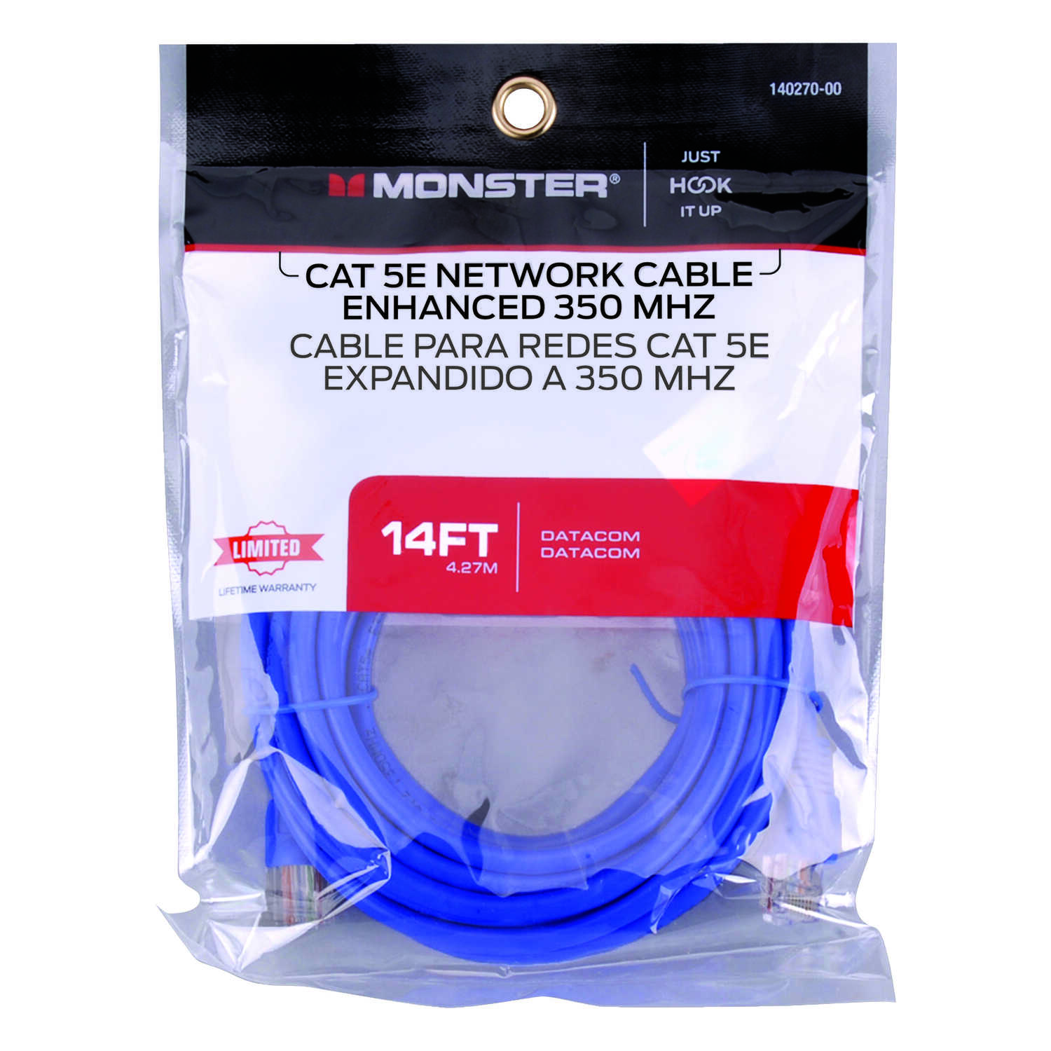 Monster Cable  Category 5E  Category 5E Networking Cable  14 ft. L