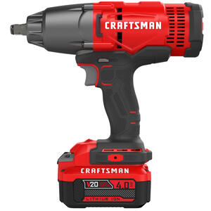 Craftsman  20V MAX  1/2 in. Cordless  Impact Wrench  Kit 20 volt 330 ft./lbs.
