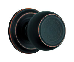 Brinks Push Pull Rotate Stafford Oil Rubbed Bronze Passage Knob ANSI Grade 2 KW1 1.75 in.