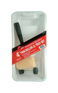 Linzer  Threaded End 4 in. W Metal/Plastic  Mini  Paint Roller Kit