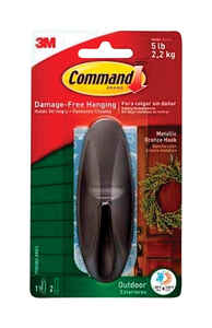 3M  Command  Large  Plastic  Hook  4-1/8 in. L 1 pk