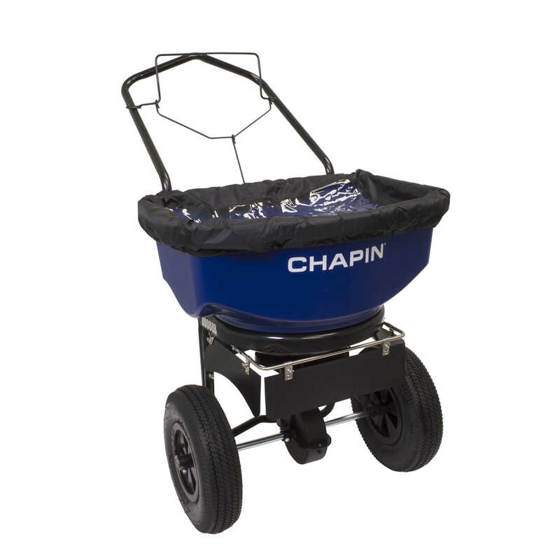 Chapin  14 ft. W Push  Spreader  For Salt 80 lb. capacity