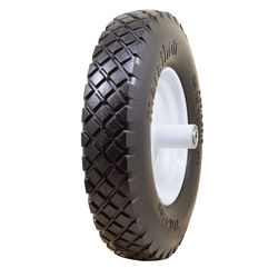 Marathon  Universal Fit  8 in. Dia. x 15.5 in. Dia. 500 lb. capacity Centered  Wheelbarrow Tire  Pol