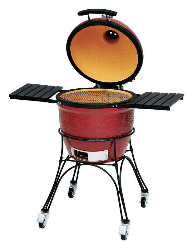 Kamado Joe  Classic 18 inch  46.5 in. W Red  Grill  Charcoal