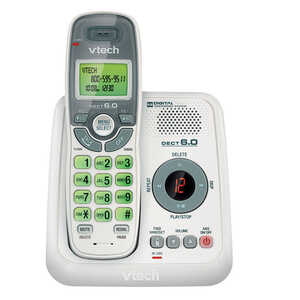 Vtech  Digital  Cordless Telephone  Built In Answering Machine 1  Multicolored