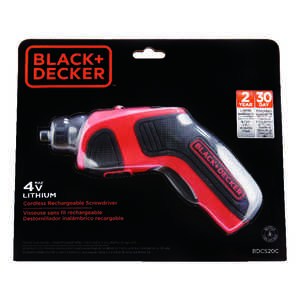 Black and Decker  Cordless  Rechargeable Screwdriver  Kit 4 volt Keyless  1 pc. 180 rpm 1/4