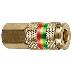 Tru-Flate  Brass  Universal Coupler  1/4 in. Female  1 pc.