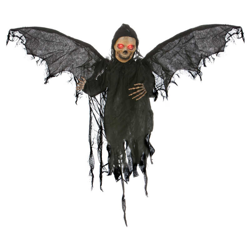 Gemmy  Animated Grabbing Reaper  Lighted Halloween Decoration  19 in. W x 27-1/2 in. L x 14-1/2 in.
