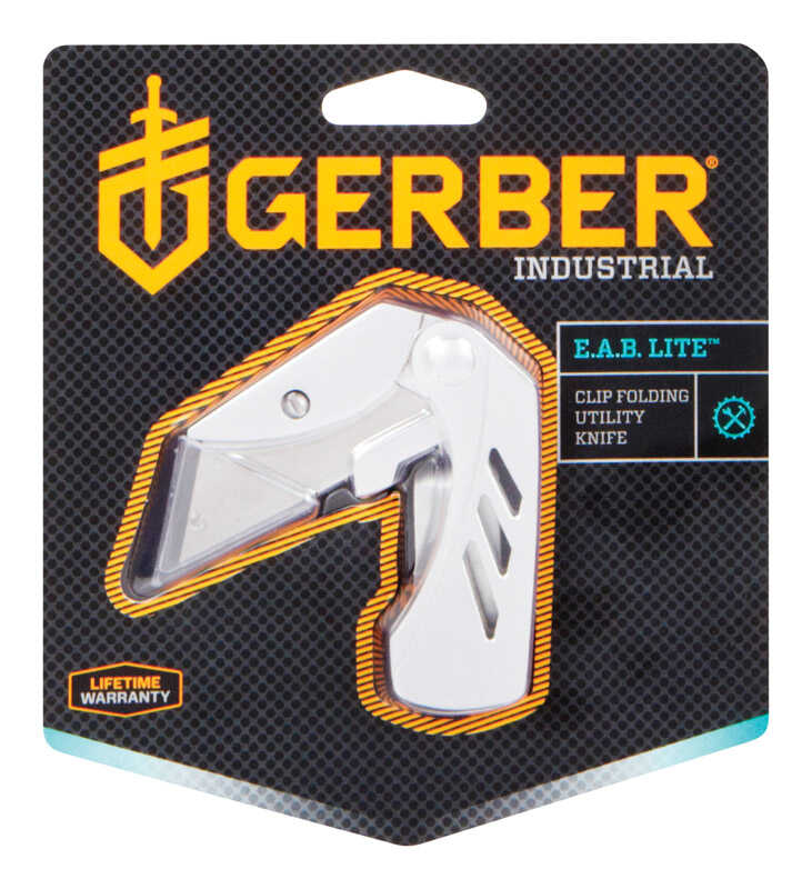 Gerber  EAB Lite  Silver  Stainless Steel  5.1 in. Pocket Knife