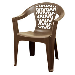 Adams  Penza  1 pc. Earth Brown  Polypropylene Frame Stackable  Chair