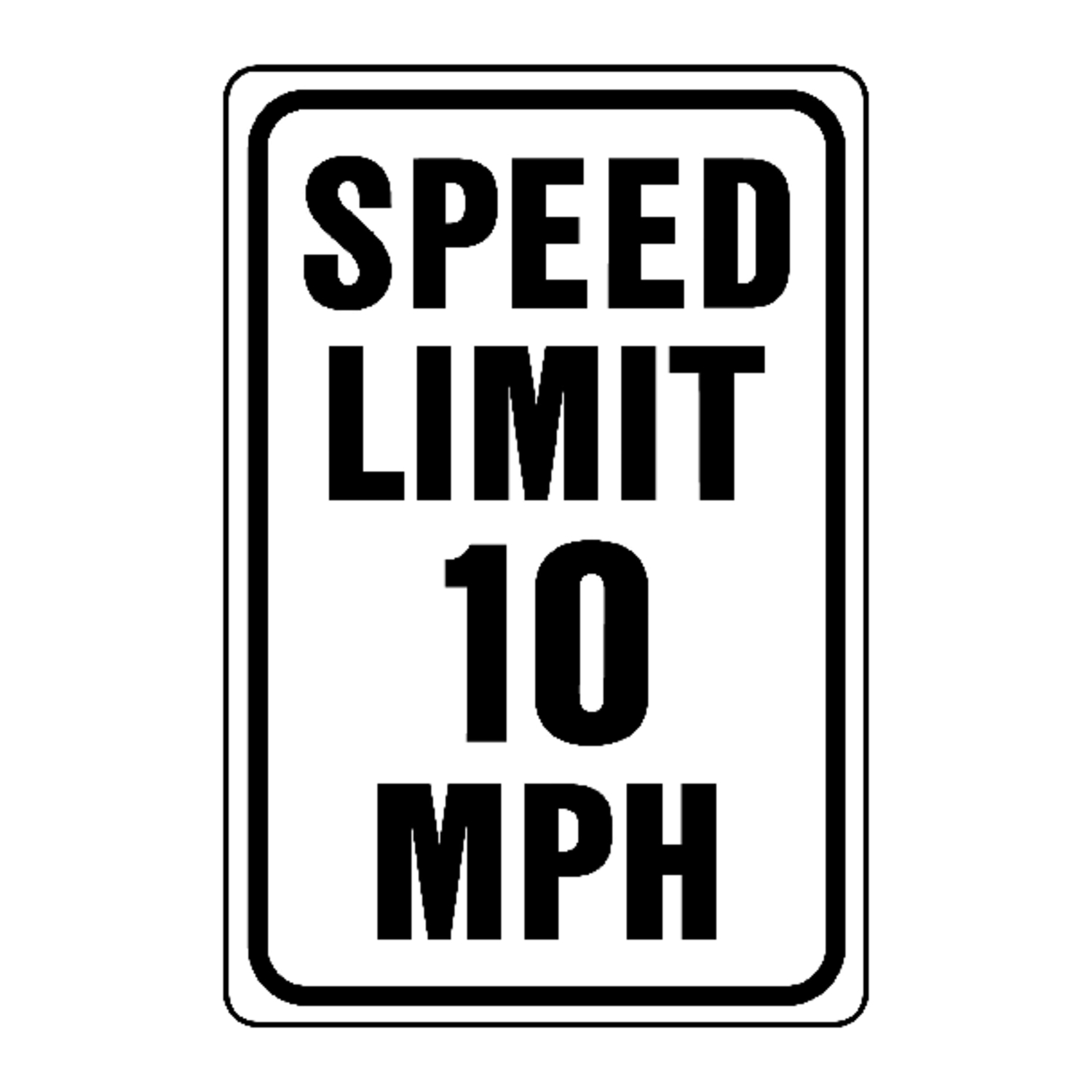 Hy-Ko  English  12 in. H x 18 in. W Sign  Speed Limit 10 Mph  Aluminum