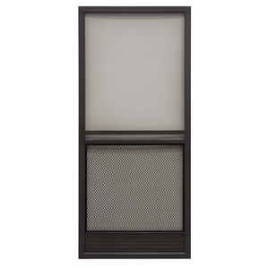 Precision  Capri Series  79-3/4 in. H x 35-1/4 in. W Capri  Bronze  Aluminum  Screen Door