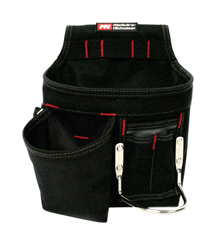 McGuire Nicholas  7-3/4 in. W x 11-3/4 in. H Polyester  Tool Pouch  6 pocket Black  1 pc.
