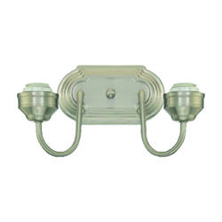 Westinghouse  2  Brushed Nickel  Metallic  Wall Sconce