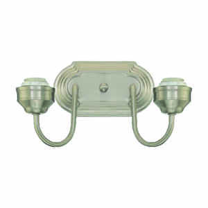 Westinghouse  Brushed Nickel  2  Wall Sconce