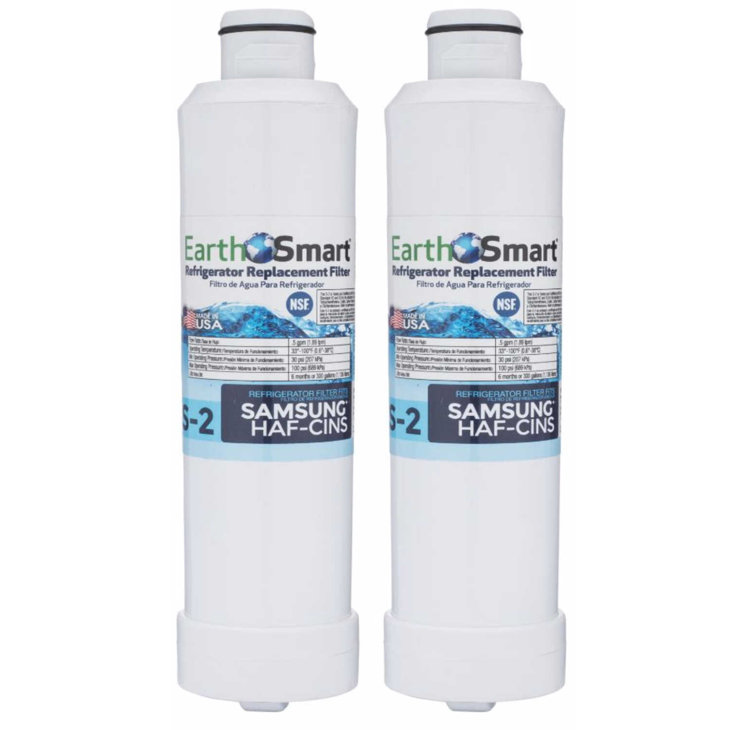 EarthSmart  S-2  Replacement Filter  For Refrigerators 300 gal.