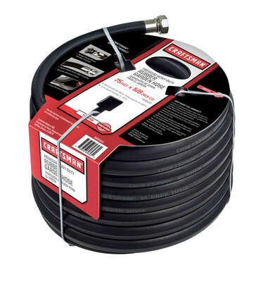 Craftsman  5/8 in. Dia. x 75 ft. L Premium Grade  Black  Rubber  Hose
