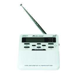 Midland  White  Weather Alert Radio with Alarm Clock  Digital  Battery