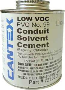 Cantex  2.7 in. Dia. x 1 in. L PVC  Electrical Conduit Cement  For Rigid
