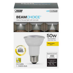 FEIT Electric  Intellibulb BeamChoice  PAR20  E26 (Medium)  LED Bulb  Bright White  50 Watt Equivale