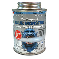 Blue Monster  Blue  All Weather Cement  For PVC 8 oz.