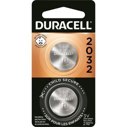 Duracell Lithium 2032 3 volt Security and Electronic Battery 2 pk